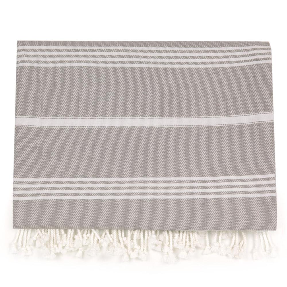 Hammam Large Towel - Silver Grey